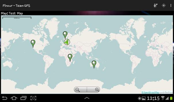 Pinour - Team GPS screenshot 1