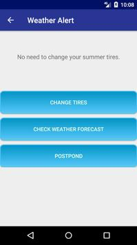Change Tires - Car Weather Forecast screenshot 4