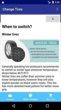Change Tires - Car Weather Forecast screenshot 5