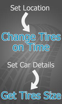 Change Tires - Car Weather Forecast poster
