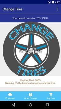 Change Tires - Car Weather Forecast screenshot 1