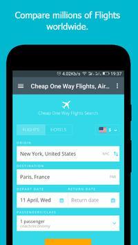 Cheap One Way Flights poster