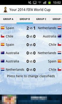 Your 2014 Football World Cup apk screenshot