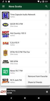 Nova Scotia Radio Stations - Canada screenshot 5