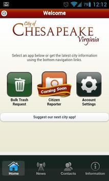 Chesapeake Bulk Trash App apk screenshot