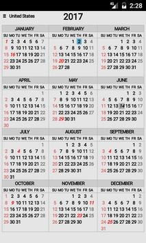 Year At A Glance poster