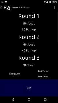 Personal Workouts apk screenshot