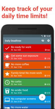 Daily Deadlines - keep track of your time. poster
