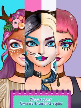 Face Paint Party - Social Star ❤ Dress-Up Games apk screenshot