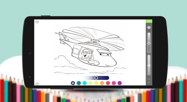 Mcqueen coloring game screenshot 2