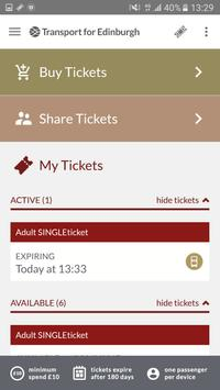 Lothian Buses M-Tickets poster
