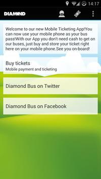 Diamond Bus M-tickets poster