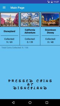 Pressed Coins at Disneyland poster