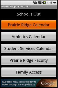 Prairie Ridge Quick Links poster