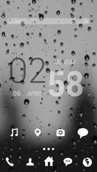 비가 오는 날엔 버즈런처 테마 (홈팩) apk screenshot