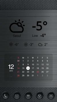 블랙 메탈 버즈런처 테마 (홈팩) apk screenshot