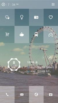 유럽 타일 버즈런처 테마(홈팩) screenshot 2