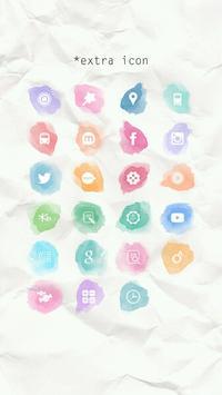 물감 방울 버즈런처 테마(홈팩) apk screenshot