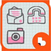 핑크 손글씨 버즈런처 테마(홈팩) icon