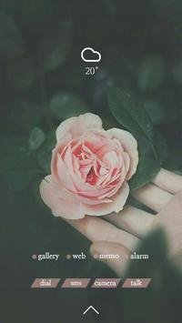 분홍 장미 버즈런처 테마 (홈팩) screenshot 2