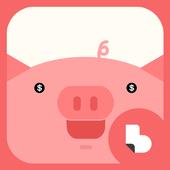 부자들의 돼지저금통 버즈런처 테마 (홈팩) icon