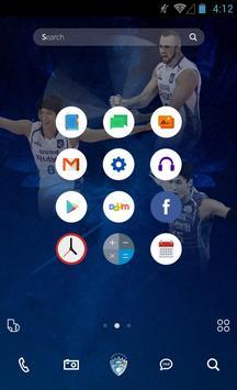삼성 블루팡스 배구단 버즈런처 테마(홈팩) apk screenshot