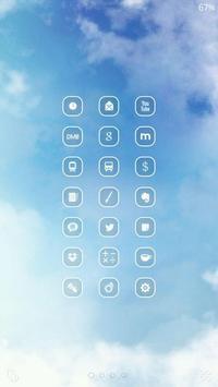 하늘 버즈런처 테마(홈팩) apk screenshot