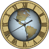 Earth Clock Wallpaper Demo icon