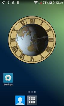 Earth Clock Wallpaper Demo poster