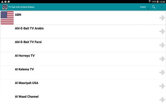 TV Sat Info United States apk screenshot