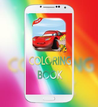 Mcqueen Car Coloring Book poster