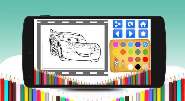 Mcqueen Car Coloring Book apk screenshot