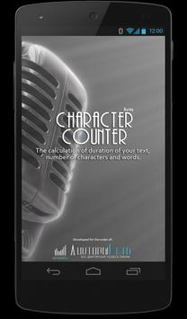 Character counter poster