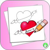 How To Draw A Heart StepByStep icon