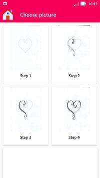 How To Draw A Heart StepByStep apk screenshot