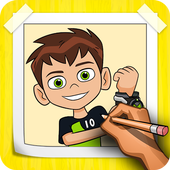 How To Draw Ben Ten Step By Step icon