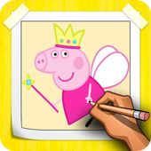 How To Draw Peppa Pig Step By Step icon