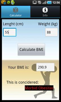 BMI Cal apk screenshot