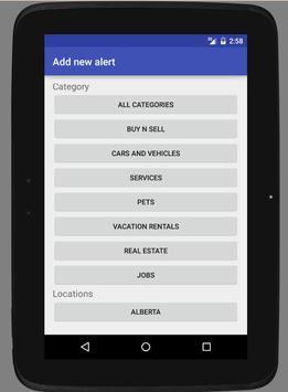 Canadian Classifieds Alerter Ekran Görüntüsü 8