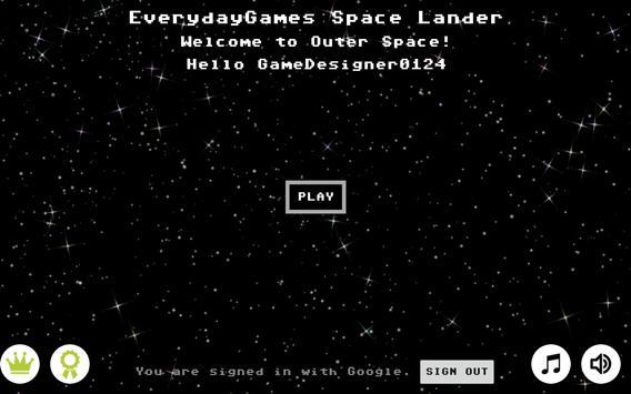 Space Lander screenshot 1
