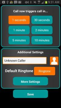 Fake-A-Call Free screenshot 1