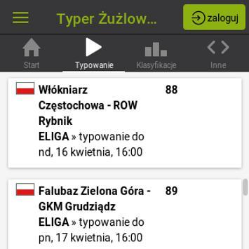 Typer Żużlowy PoKredzie.pl apk screenshot