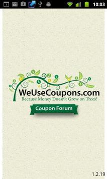 WeUseCoupons Coupon Forum poster