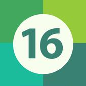 Sixteen to 16 icon