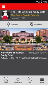 The 17th Annual Family Cafe poster