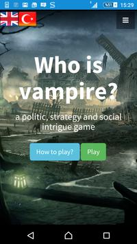 Who is Vampire poster