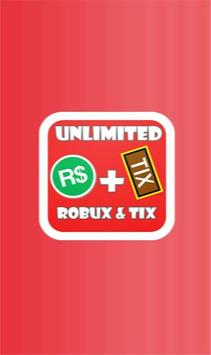 Free robux and tix for roblox prank poster