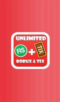Free robux and tix for roblox prank apk screenshot