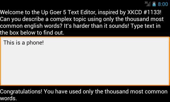 Up-Goer 5 Text Editor screenshot 2