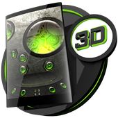 Steampunk Green theme for Next Launcher icon